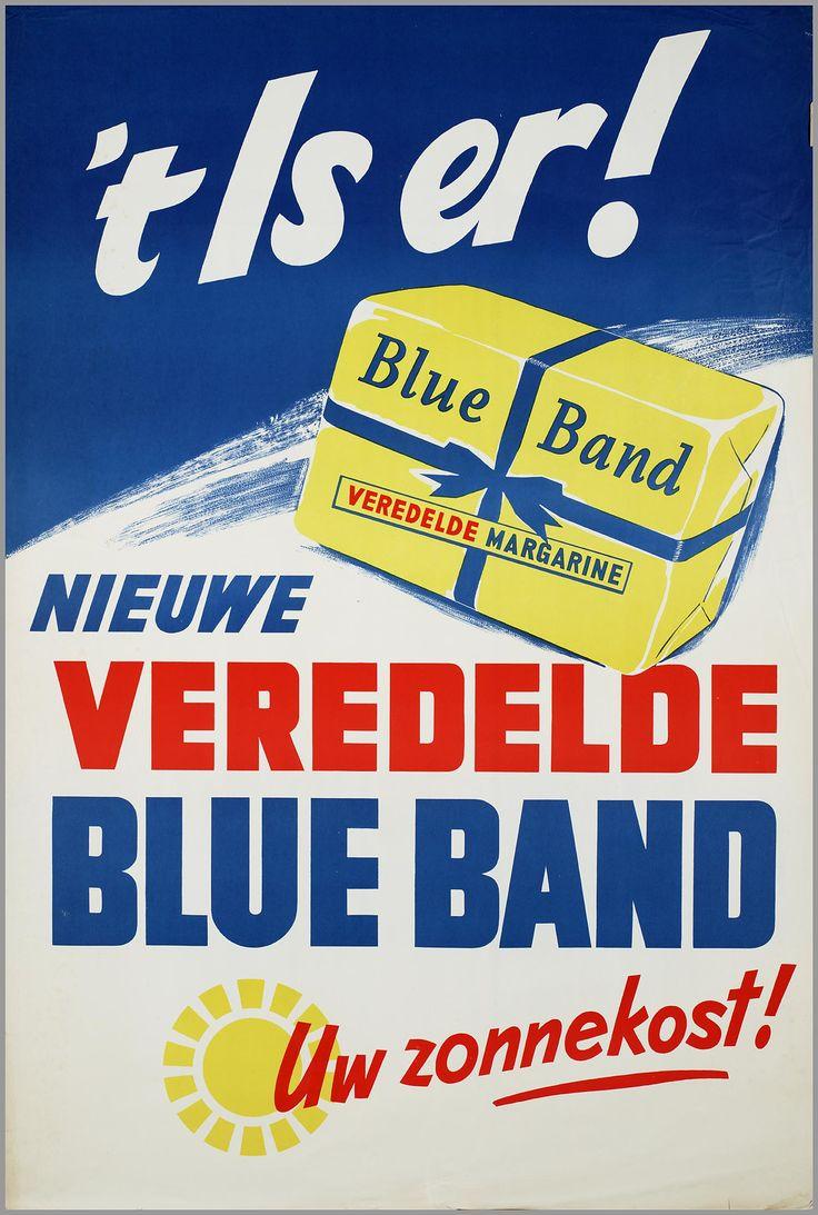 www.trondbargie.nl - - - - - - - - - - - - Affiche Blue Band, 1953-1954.