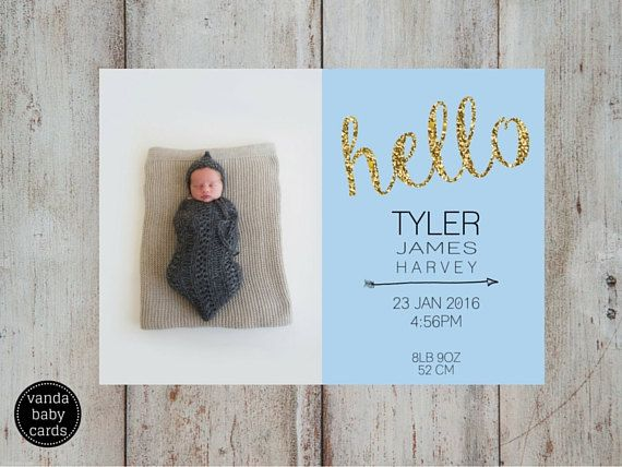 31 best Birth Announcement Thank You Cards images – Custom Baby Announcements