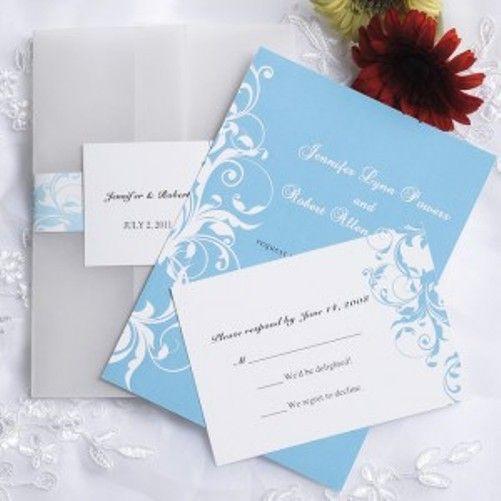 warna pastel biru unttuk undangan pernikahan hardcover