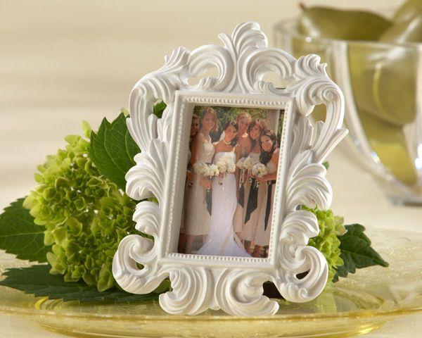 Baroque White Elegant Place Card Holder