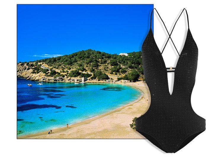 Ibiza  Range: Las Salinas Bathing: one-piece rhinestone, Gucci , 350 euros.