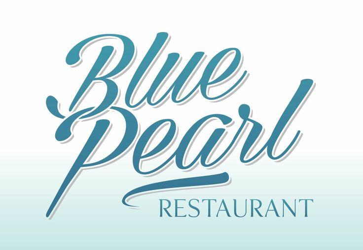 Nouveau Logo du restaurant le Blue Pearl à Villeneuve Loubet