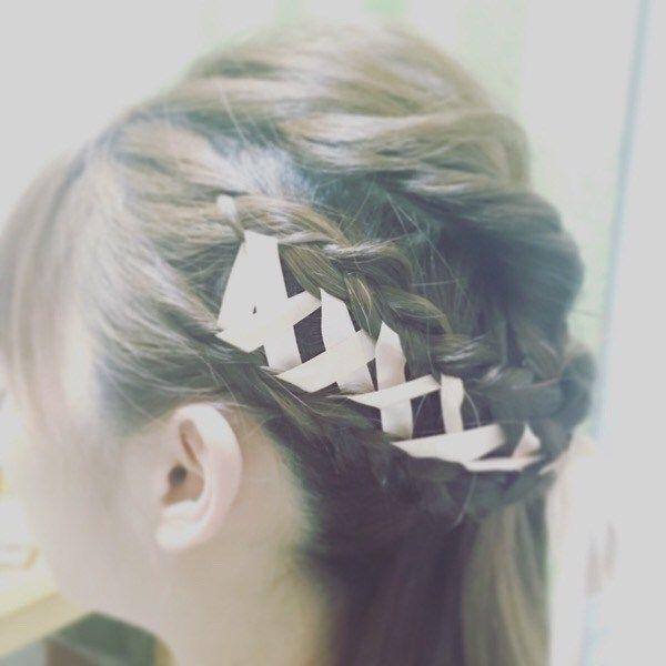 【レースアップ】家に帰ってから妻でヘアセット練習 | miyamotokazuto.net/熊谷の美容室 宮本一人