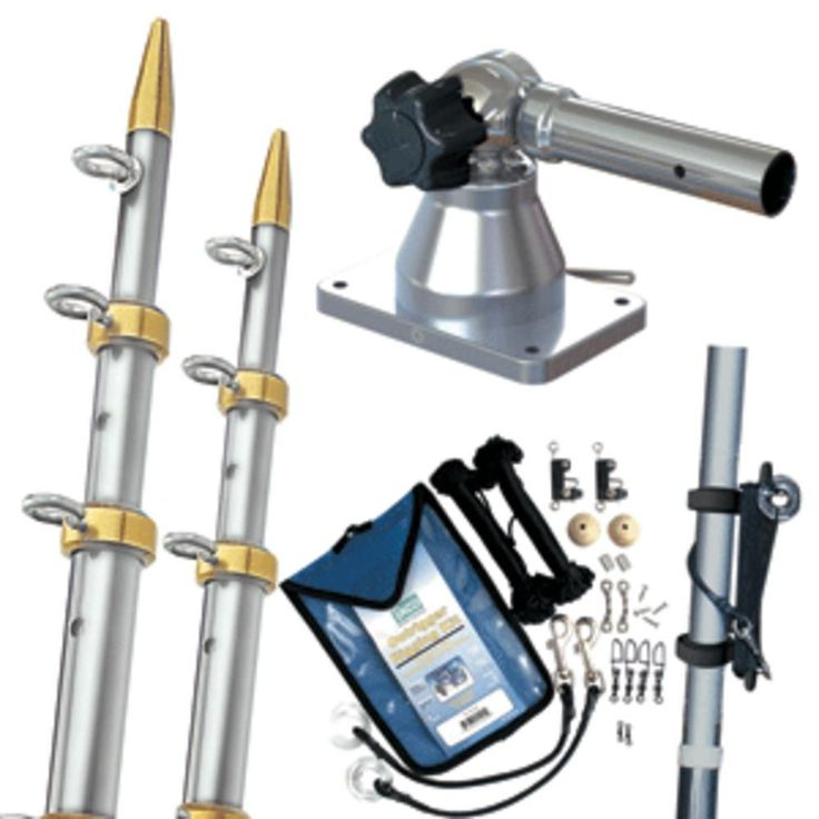 TACO Grand Slam 170 Outrigger Kit w/Silver & Gold 15 Outriggers, Rigging Kit & Line Caddy