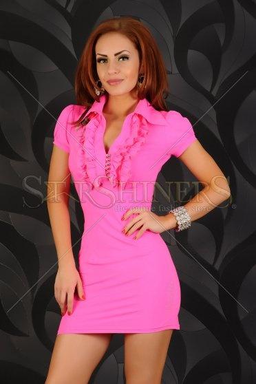 Rochie MissQ Neon Note Pink
