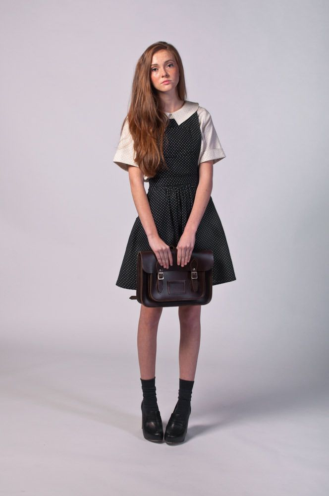This feels like a school uniform but for day to day living (and also for adults). I'm becoming a real fan of the pinafore dress and the collar is incredibly cute.