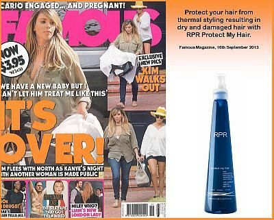 RPR Protect My Hair featured in Famous Magazine September 16th 2013 - News - RPR Hair Care Pty. Ltd.