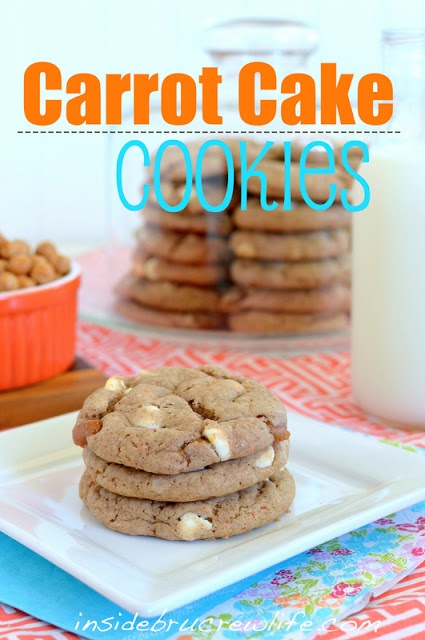 Carrot Cake (cake mix) Cookies - these easy carrot cake cookies are