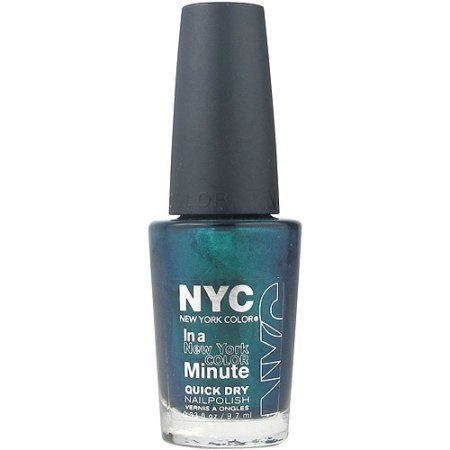 NYC New York Color In a New York Color Minute Quick Dry Nail Polish, Precious Peacock, 0.33 fl oz