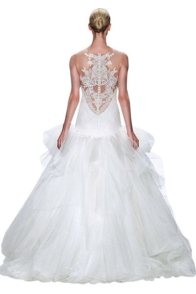 Gown by Kenneth Pool.Check out more gorgeous dresses in our Kenneth Pool wedding gown gallery ►