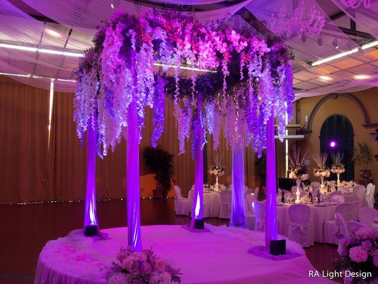 purple lights and flowers  www.ralightdesign.com