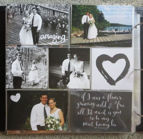 Love Story Project Life products helped me to put together my 46 page Wedding Album in just 4 days!… Stampin' Up!® - Stamp Your Art Out! www...