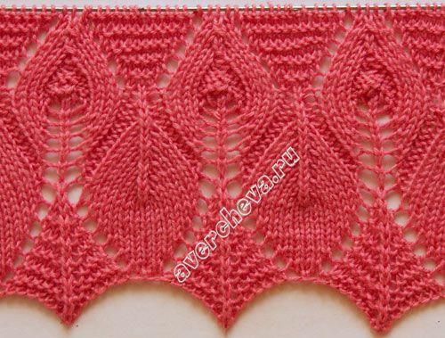 Oi amigas (os)!   Mais um lindo ponto em trico:                       l ado direito - ponto meia     lado avesso - ponto trico       laç...
