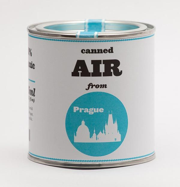 Original Canned Air from Prague #can #packaging