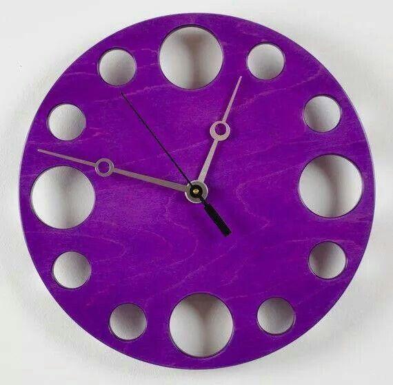 CUTE PURPLE CLOCK:):