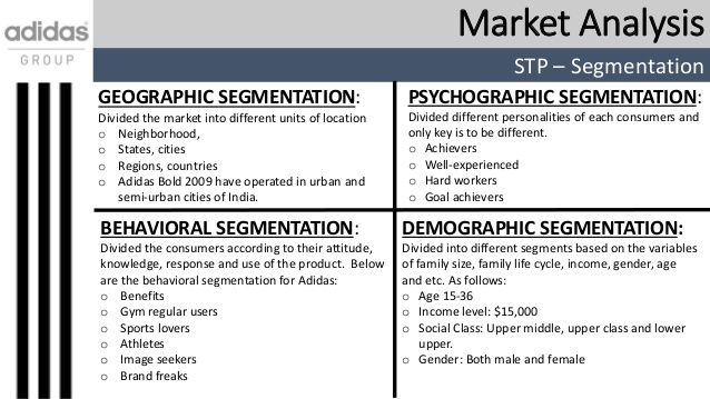 Image result for example of a market segmentation analysis POM - target market analysis