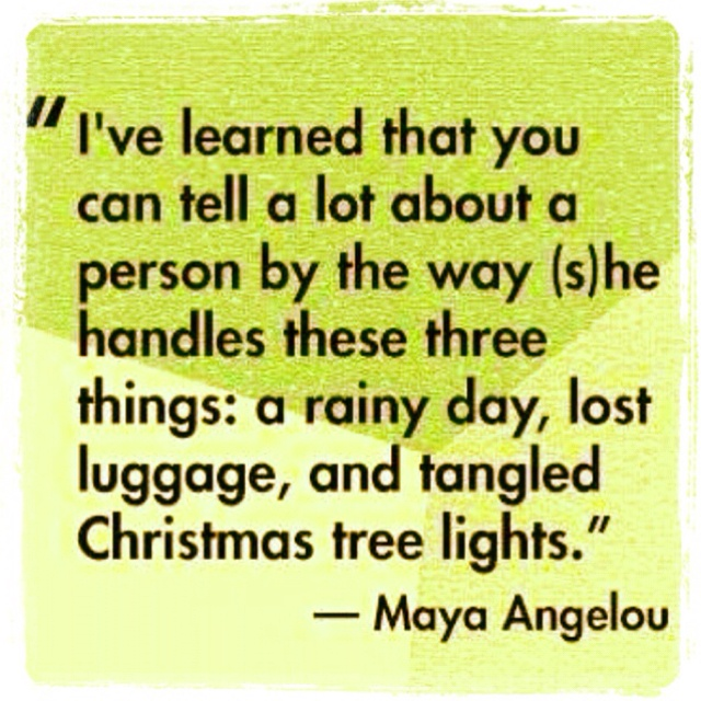 ...and airline delays!Maya Angelou, Wise Women, Inspiration, Quotes, Rainy Day, Christmas Lights, Mayaangelou, Christmas Trees, Smart Women