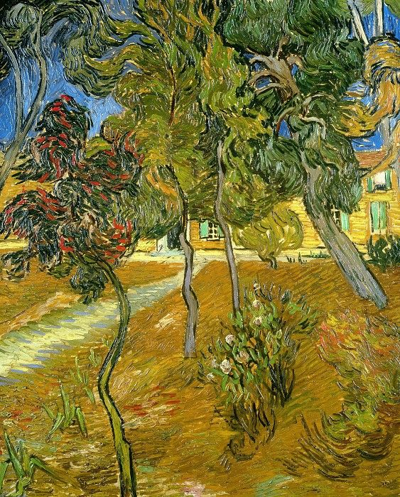 Trees in the Garden, Saint-Paul Hospital, 1889.  Vincent van Gogh