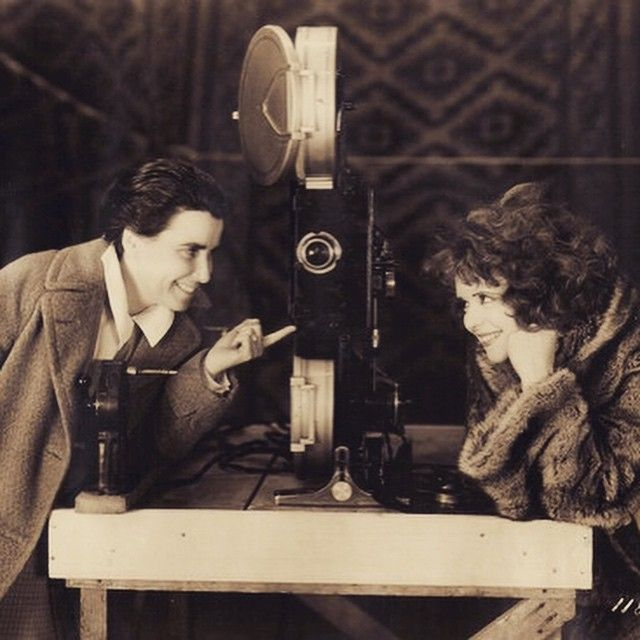 Clara Bow and Dorothy Arzner, who directed Clara's first talkie, THE WILD PARTY. Nitrate Diva