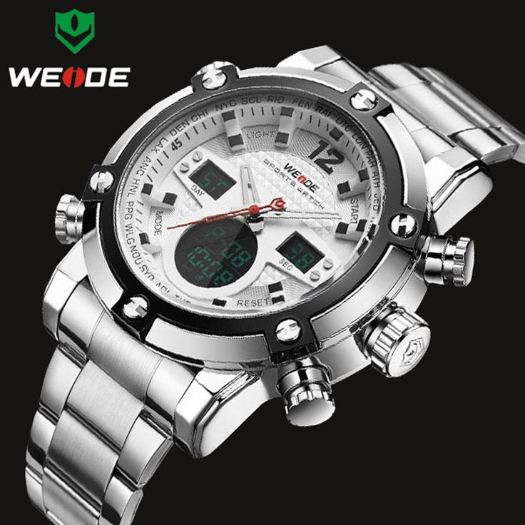 WEIDE Luxury Brand Топ Мужские Часы мужские Кварцевые Аналоговые Цифровой СВЕТОДИОДНЫЙ Спортивные Часы Мужчины Военный Наручные Часы Relogio Masculino #women, #men, #hats, #watches, #belts, #fashion