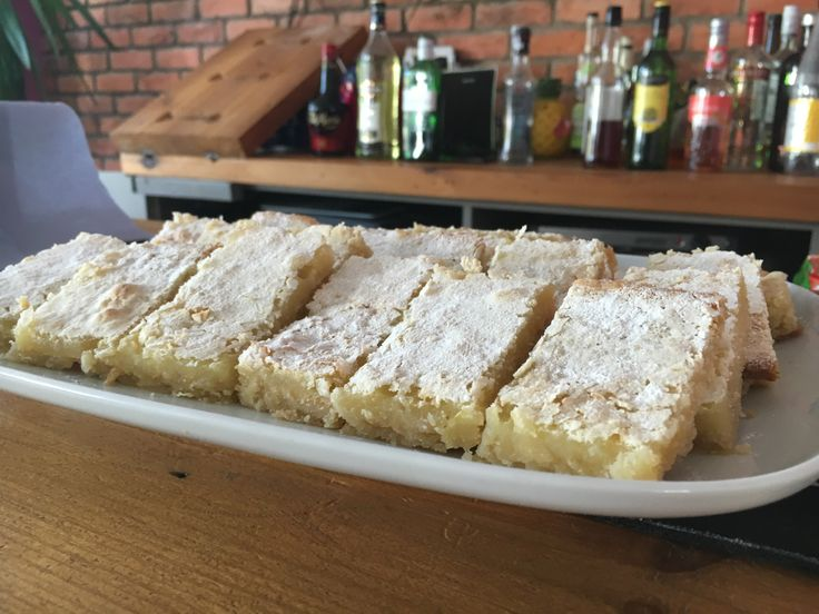 2016 Week 1 - Lemon Bars - by James - Moist and Tart were words bandied around!!