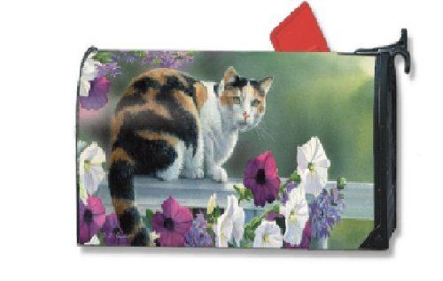 Calico Kitty Large Mailbox cover by Magnet Works. $24.95