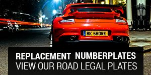 Replacement Number Plates made by Rockshore
