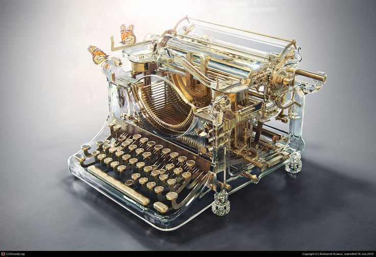 Naked typewriter