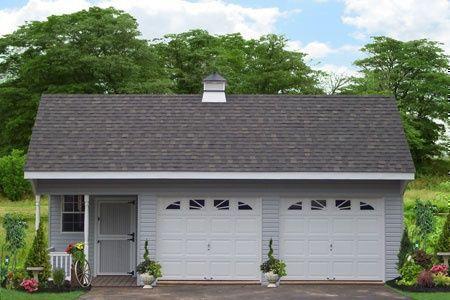 prefab two car garage