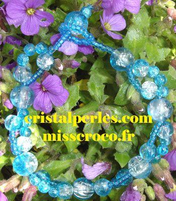 bracelet perles craquelées