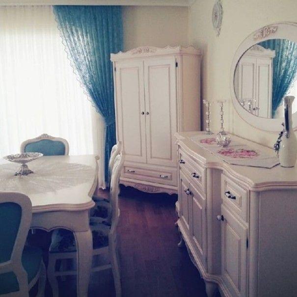 Ev Gezmesi - Country ve vintage stilde mavi ve pembelerle çok zarif ev..