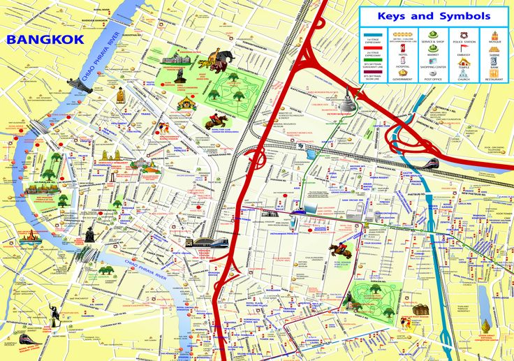 bangkok thailand attractions map chinatown | Bangkok – where to ... Bangkok Map