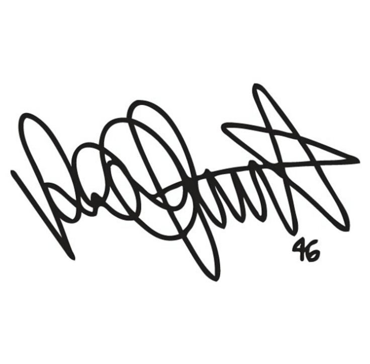 Rossi's autograph ♥️