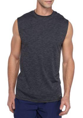 Sb Tech Men's Sleeveless Space-Dye Muscle Shirt - Graphite - Xl