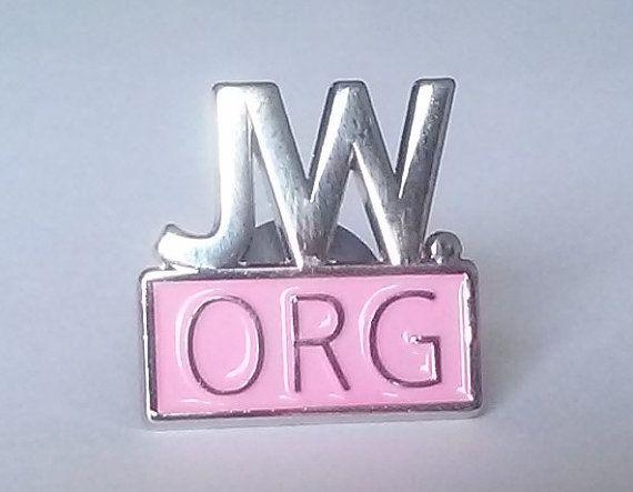 JW.org pin for Jehovah's witnesses pink and by EvilKittyCove