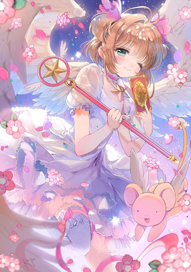 Cardcaptor Sakura | CLAMP | Madhouse / Kinomoto Sakura and Keroberos (Kero-chan) / 「さくら」/「repi★(レピ)」のイラスト [pixiv]