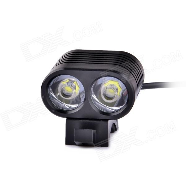 Highest quality and Cheap UltraFire LZZ-U3 2-LED 4-Mode 1800lm White Bike Light / Headlamp - Black (4 x 18650) on sale