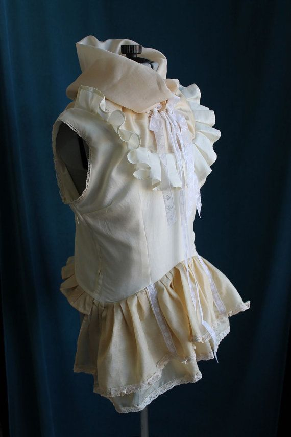 Victorian Steampunk Eco Silk Blouse Ruffled by VentriloquistCourt