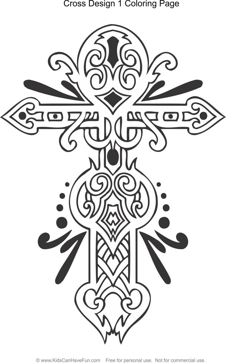 17 Best images about crosses to color on Pinterest | Adult ...