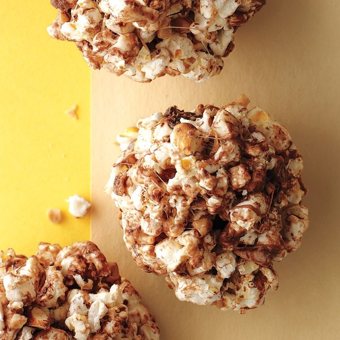 Toffee-Almond Popcorn Balls Recipe | Martha Stewart