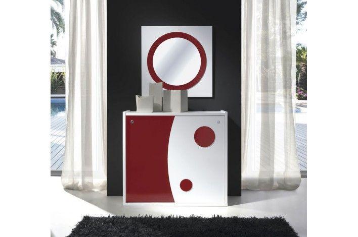 Un #zapatero y también un #recibidor. Con el complemento perfecto: un espejo. Varias combinaciones de colores. | #Merkamueble