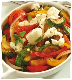 Roasted Vegetables with Feta Cheese - Low Carb, Low Fat - EnLITEned Shavuot Recipes