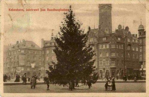 Jul på Rådhuspladsen ca 1915