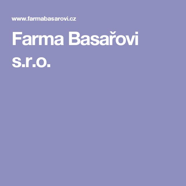 Farma Basařovi s.r.o.