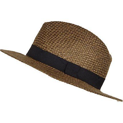Green straw fedora hat £14.00