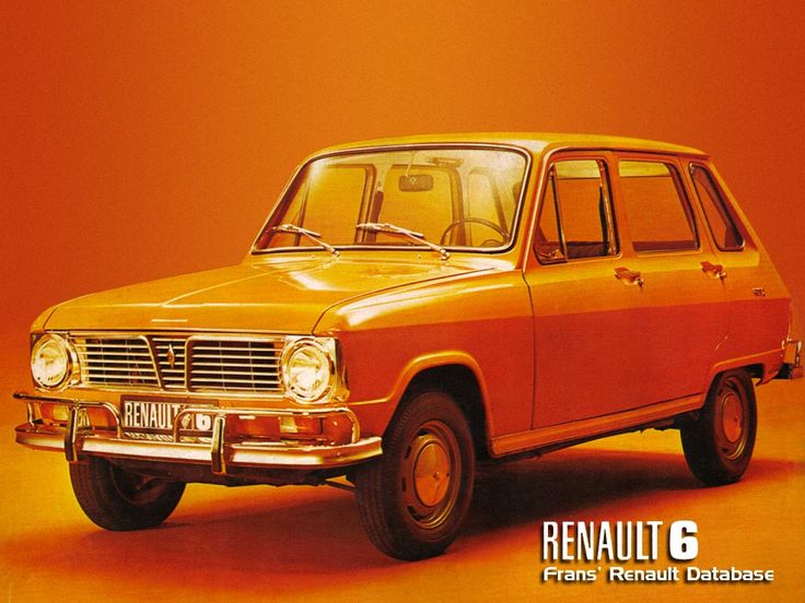 My first car, a Renault 6. Thanks dad.