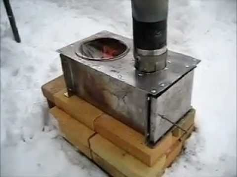 How to make a nice wood stove no welding or power tools for Small rocket heater