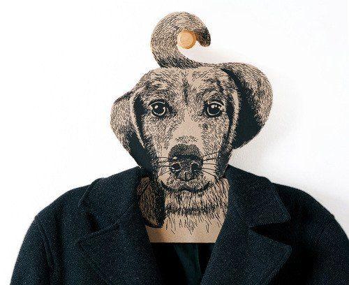 Cintre à tête de chien - Hariet et Rosie