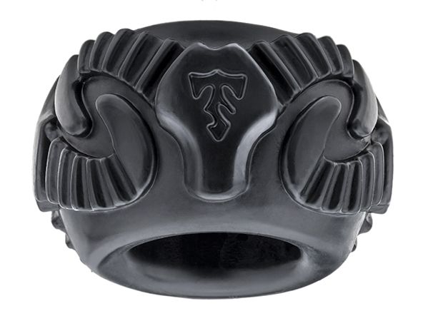 This highly styled stretchy ram ring cock ring can be used as a traditional cock ring or worn as a body adornment. #cockring #perfectfit