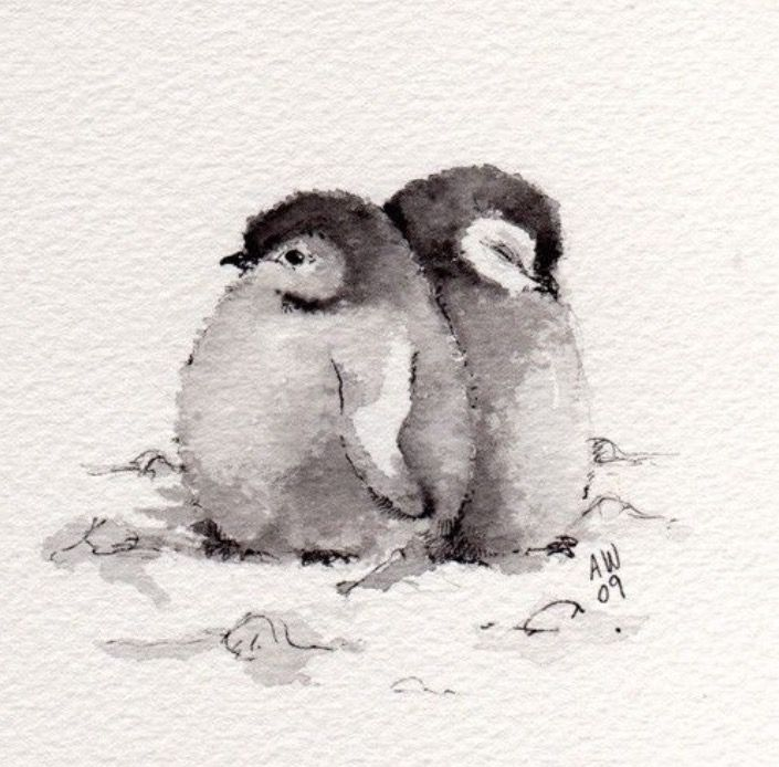 Isn't this the cutest watercolour painting you've seen?